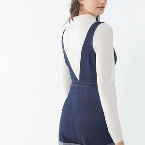NWT - Urban Outfitters Denim Zip Front Romper